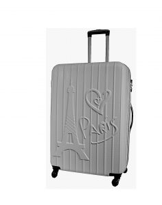 valise rigide 76 cm pas cher Madisson gris