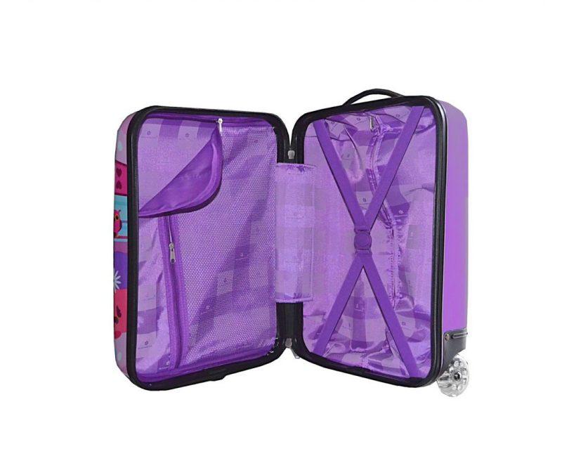 Valise cabine rigide enfant violet madisson