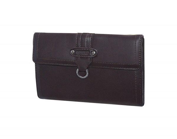 Portefeuille-porte-cartes-chequier-en-cuir-femme-katana-Choco-pas cher