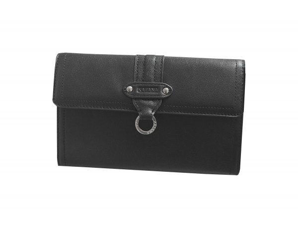 Portefeuille-porte-cartes-chequier-en-cuir-femme-katana-Noir.