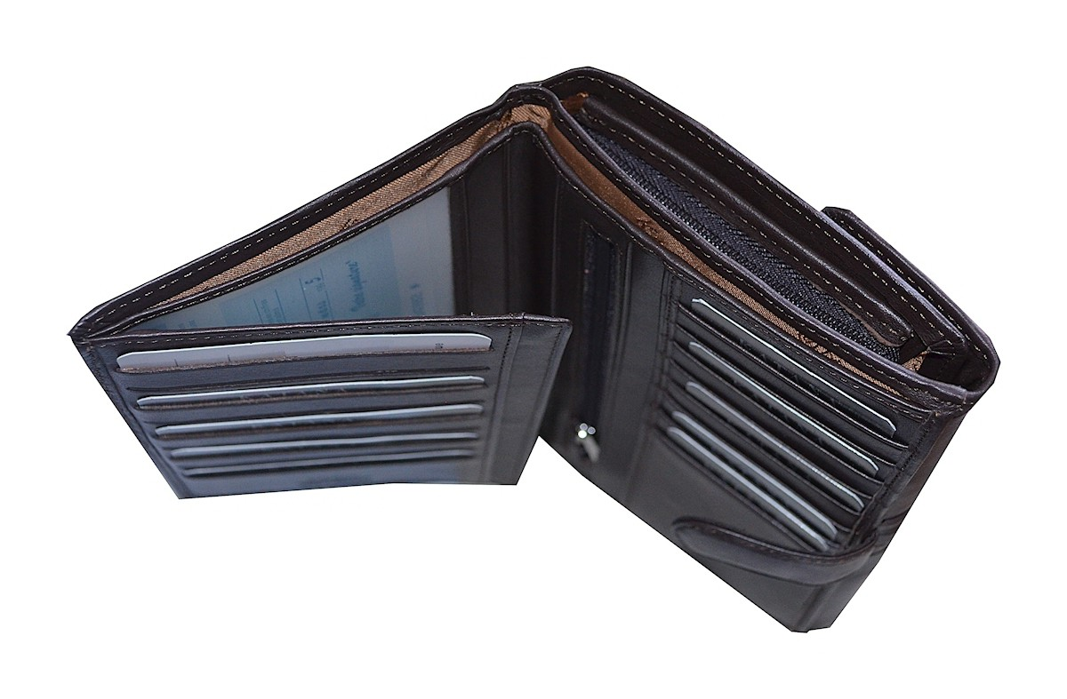 date de sortie c1bd1 ba75f Portefeuille porte cartes chéquier en cuir femme katana
