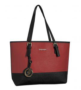 sac à main A4 femme pas cher gallantry noir rouge