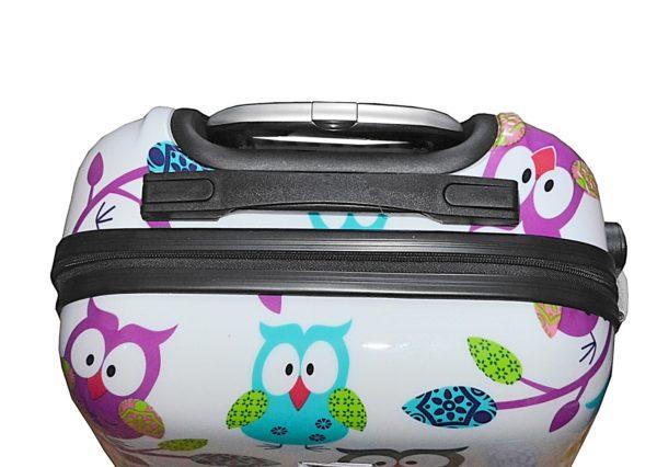 Valise cabine rigide pas cher imprimée Hiboux Worldline.
