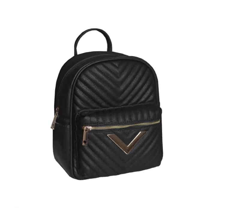 sac à dos matelassé noir pas cher