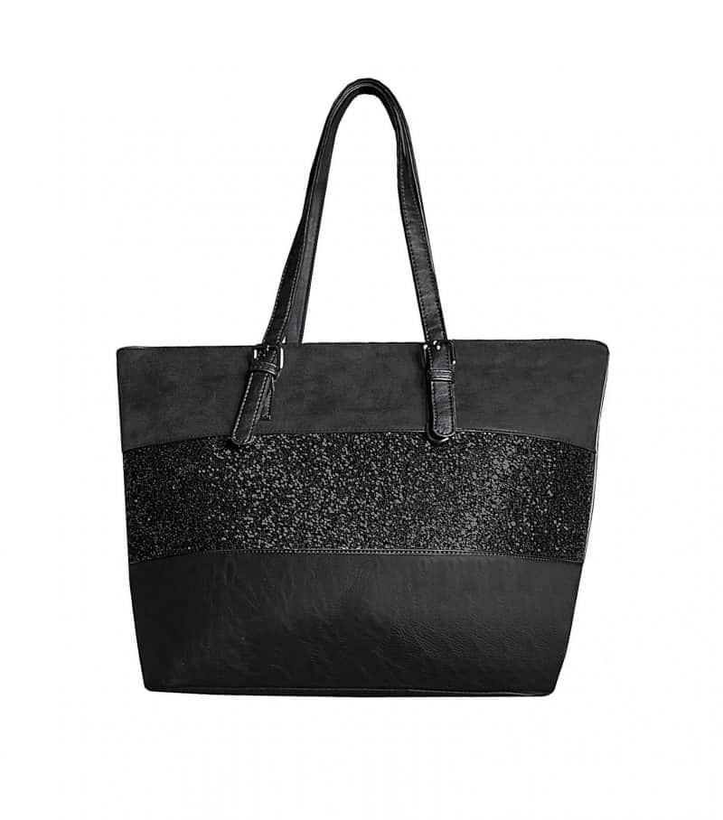 sac à main paillettes A4 noir
