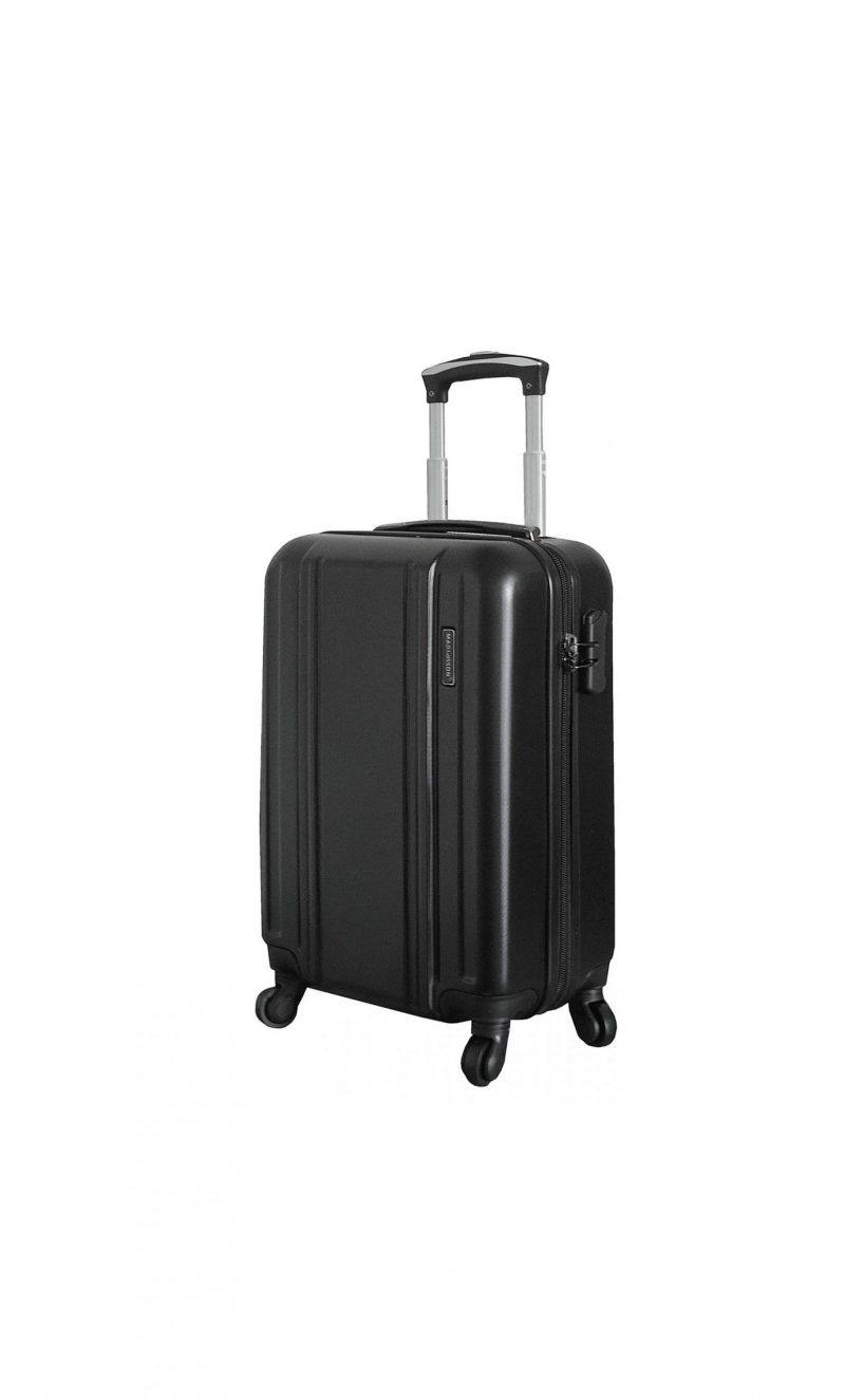 valise cabine rigide 55 cm madisson pas cher 77004 noir