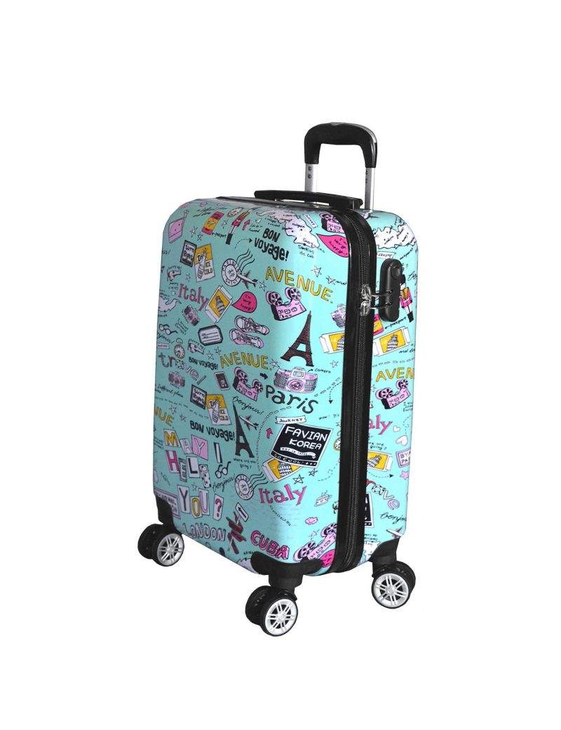 valise cabine pas cher pour enfant Madisson vert