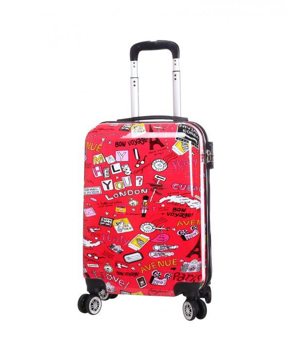 Valise enfant pas cher rouge madisson 86820G