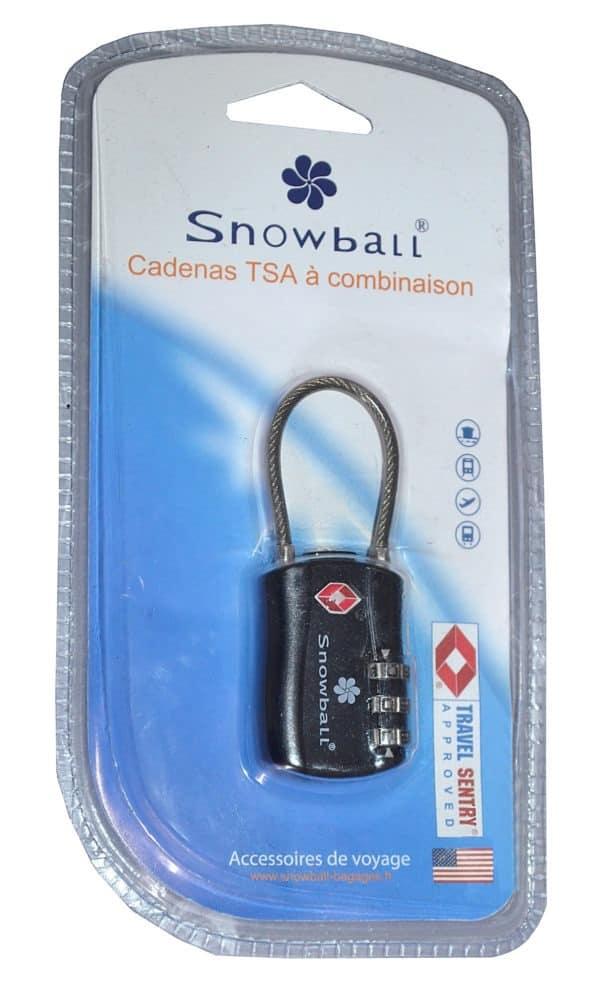 Cadenas de sécurité Antivol à code TSA ultra résistant Snowball