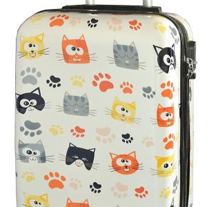 "Valise cabine 55 cm ""chatons"""