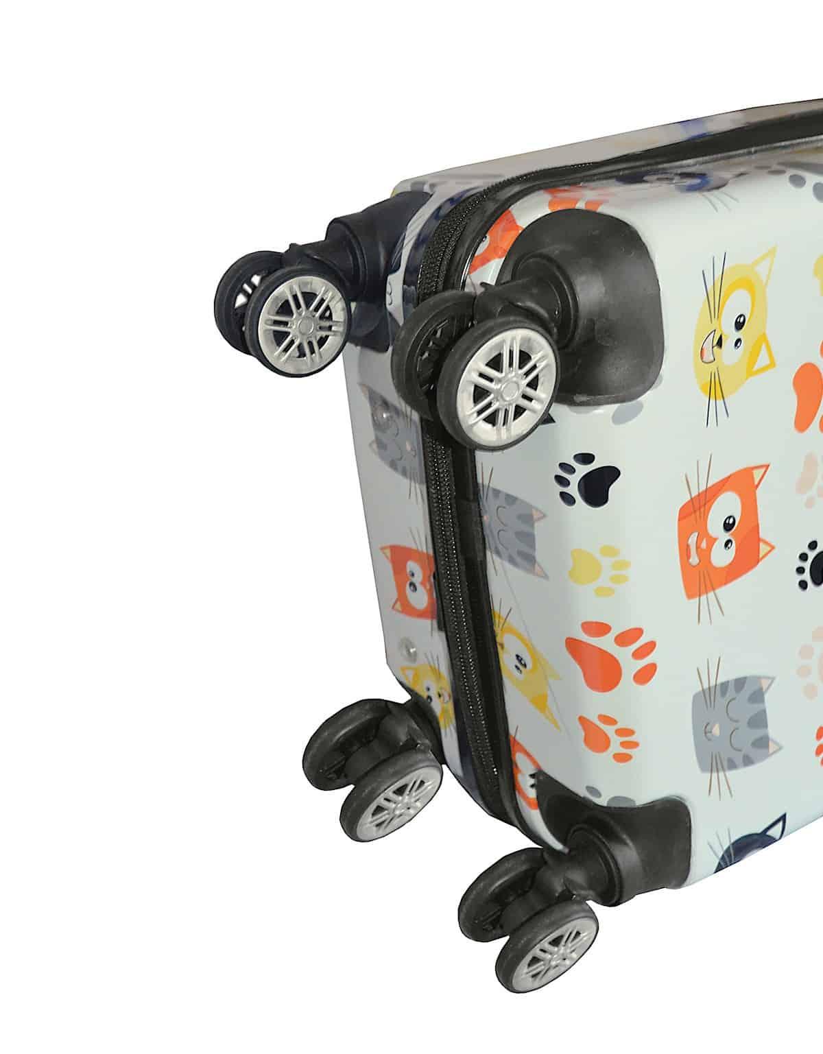 Valise cabine 4 roues pour Enfant motifs Chatons Madisson.