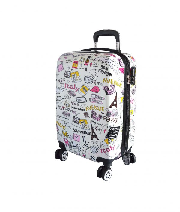 valise cabine enfant pas cher madisson 86820G blanc