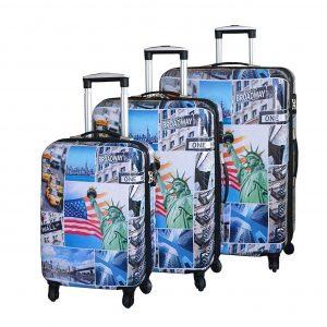 """Set de 3 valises rigides """"Broadway"""""""