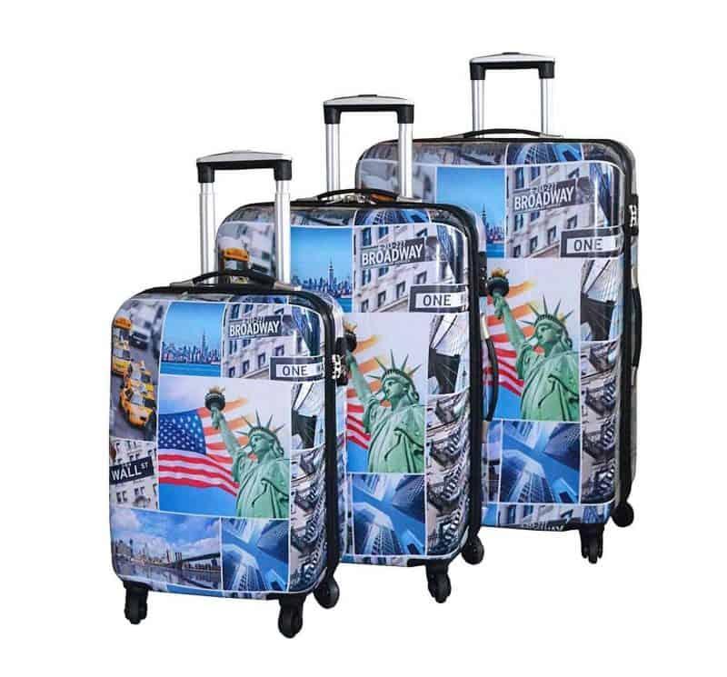 ensemble de 3 valises rigides tsa