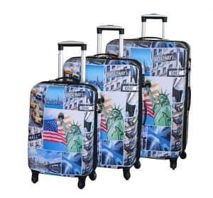 ensemble de 3 valises rigides pas cher snowball 66820A
