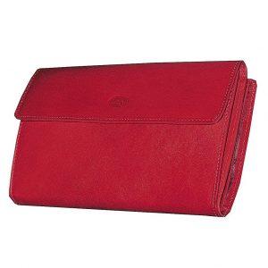 Portefeuille en cuir pour femme – Rouge