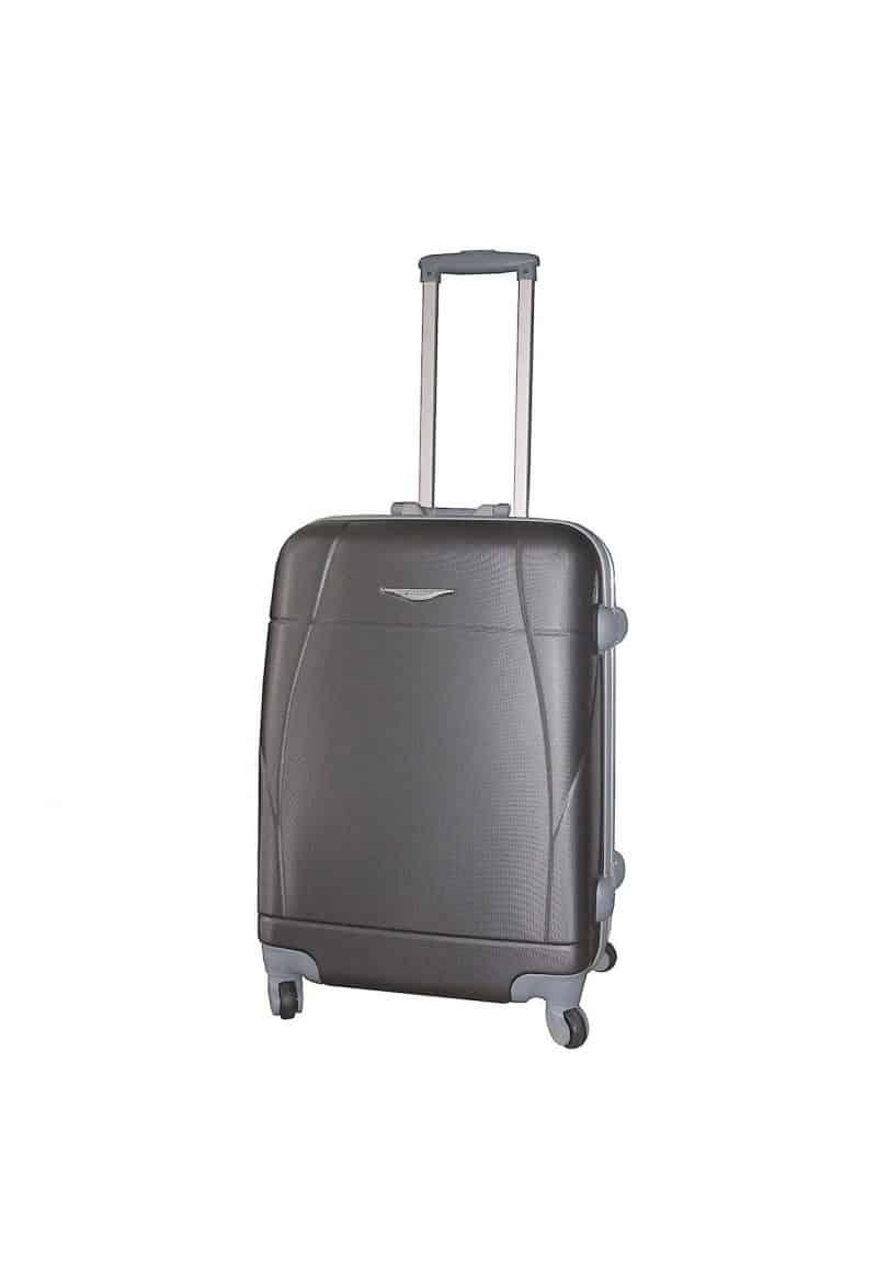 valise rigide 65 cm pas cher Madisson noir 87004