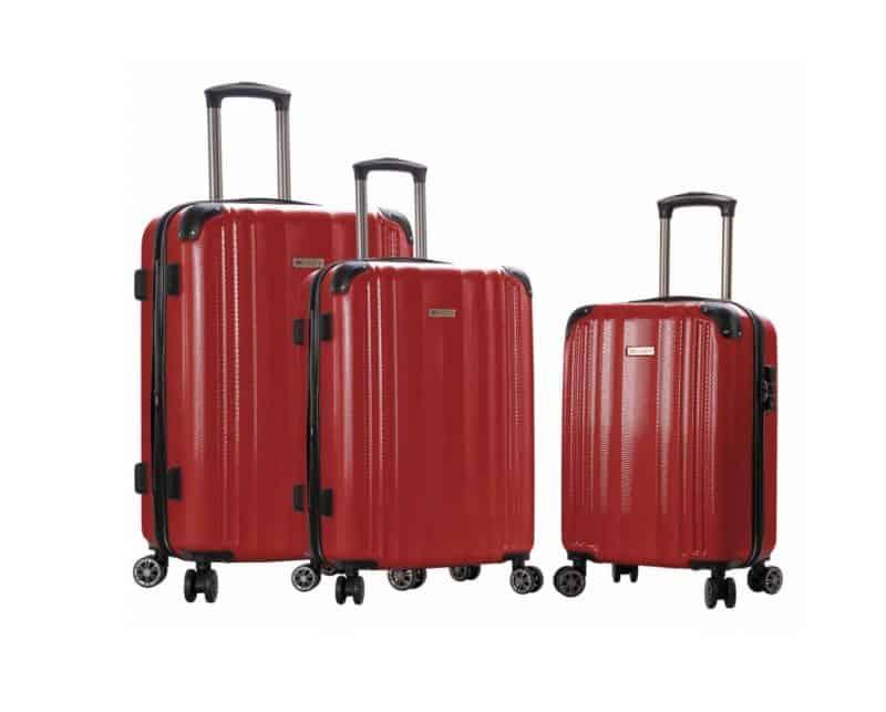 ensemble de 3 valises rigides bordeaux