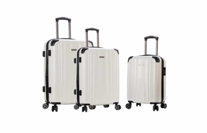 ensemble de 3 valises rigides blanc