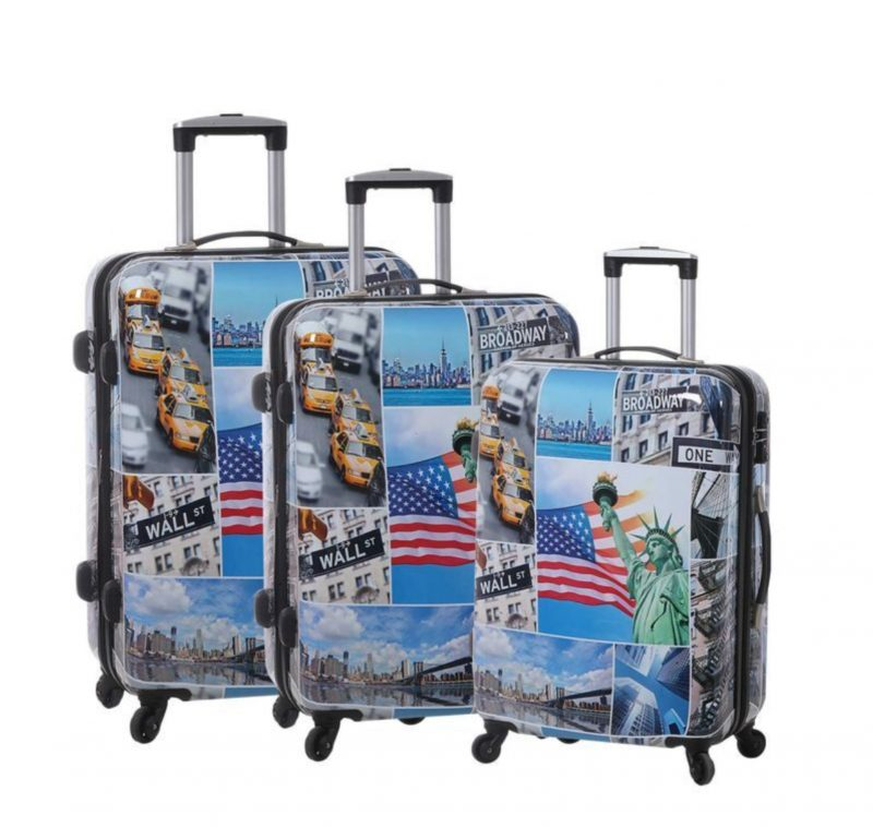 ensemble de 3 valises rigides tsa snowball