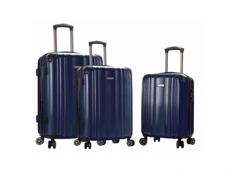ensemble de 3 valises rigides bleu