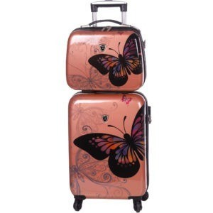 Ensemble valise cabine et vanity case rose gold Madisson.