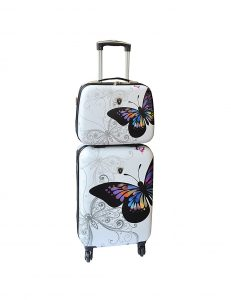 valise cabine et vanity case madisson pas cher 16820B blanc