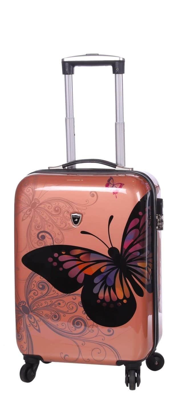 Ensemble valise cabine et vanity case rose gold Madisson.