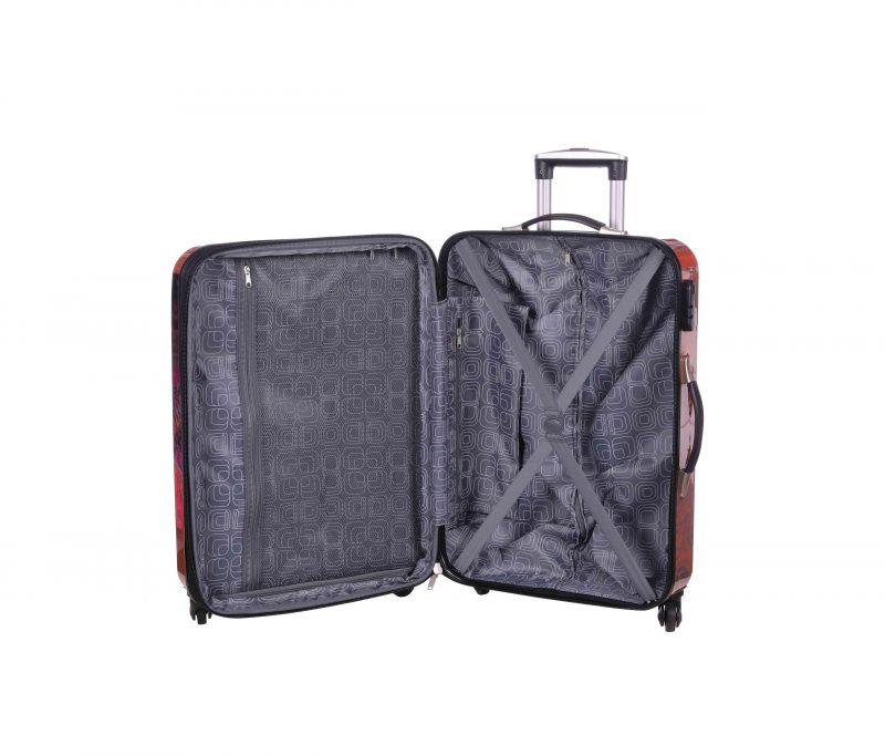 valise cabine pas cher madisson rose papillon 16820B