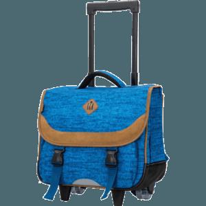 Cartable scolaire à roulettes CM1 CM2 bleu Snowball