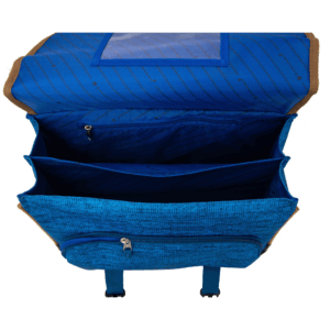 Cartable scolaire CP CE1 CE2 bleu style vintage Snowball