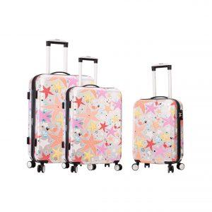 "Set de 3 valises ""Etoiles de mer"""