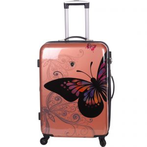 Valise rigide 76 cm extensible à 4 roulettes Rose gold Madisson