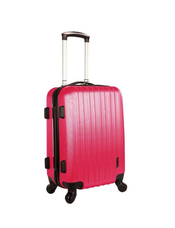 valise cabine pas cher rose fuschia A40002