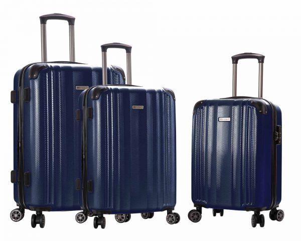 lot de 3 valises Snowball pas cher bleu