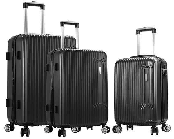 SET 3 valises rigides Snowball 4 roues pas cher noir