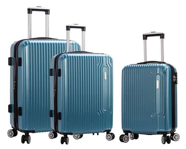 SET 3 valises rigides Snowball 4 roues pas cher bleu turquoise