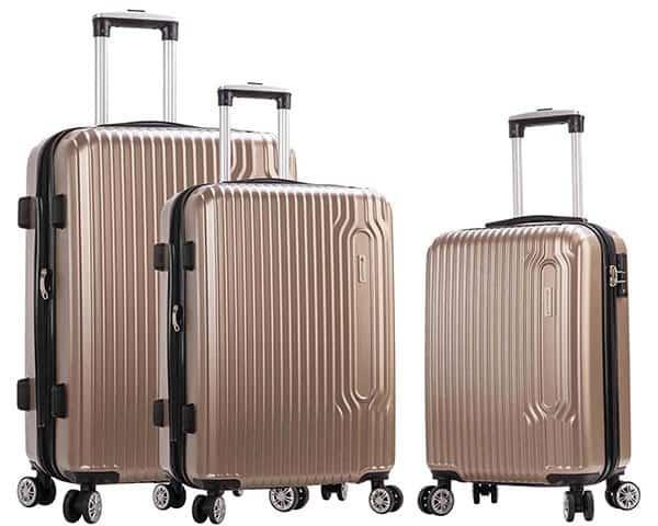 SET 3 valises rigides Snowball 4 roues pas cher taupe