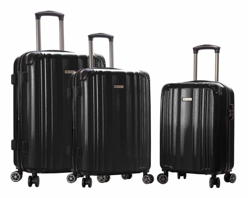 ensemble de 3 valises pas cher Snowball noir