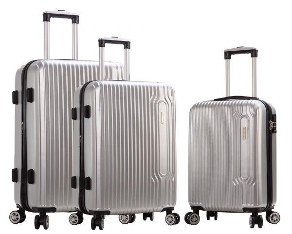 SET 3 valises rigides Snowball 4 roues pas cher gris