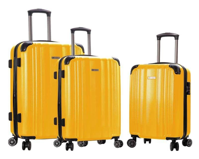 ensemble de 3 valises Snowball pas cher jaune