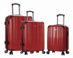 ensemble de 3 valises Snowball rouge pas cher