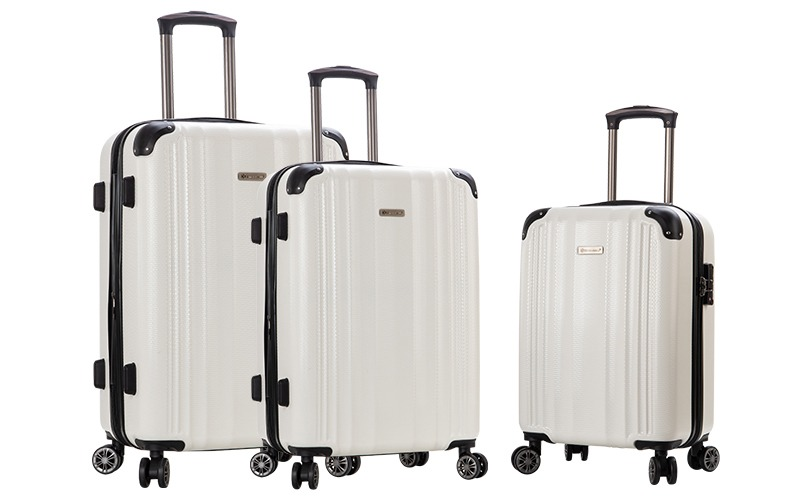 ensemble de 3 valises Snowball pas cher blanc