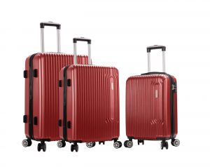 ensemble de 3 valises rigides pas cher Snowball rouge