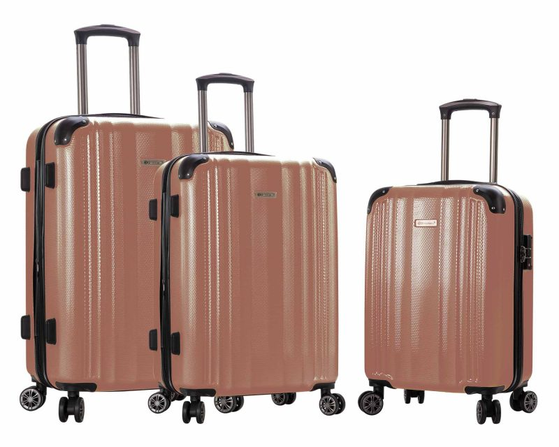 ensemble de 3 valises pas cher Snowball rose