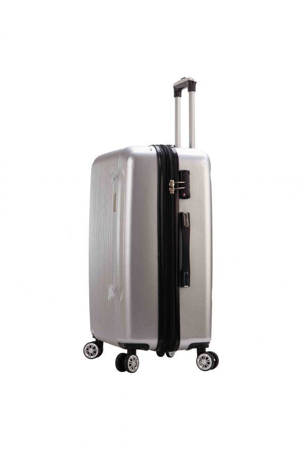 Valise cabine grise à 4 double roues Olympion