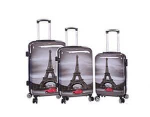 ensemble de 3 valises rigides pas cher Madisson