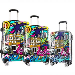 "Set de 3 valises rigides ""Miami Beach"""