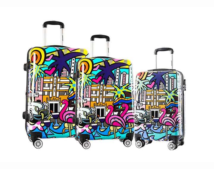 ensemble de 3 valises rigides pas cher madisson miami