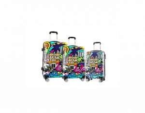 lot de valises -rigide pour les vacances-miami-beach-96820K